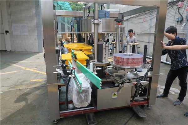 Botol Jus Bir Onefold Rotary Sticker Machine Labeling AC380V 50Hz 5.5KW