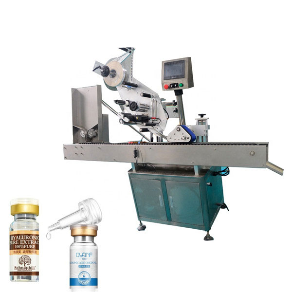 Aluminium Alloy Opp Vial Industrial Labeling Machine Kanggo Botol Babak