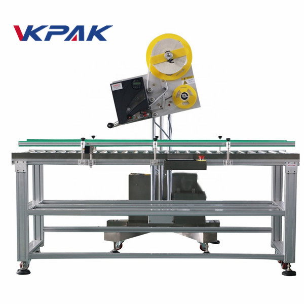 Aplikator Label Industri Amplop Otomatis Kanggo Kotak Kertas Produksi Skala Cilik