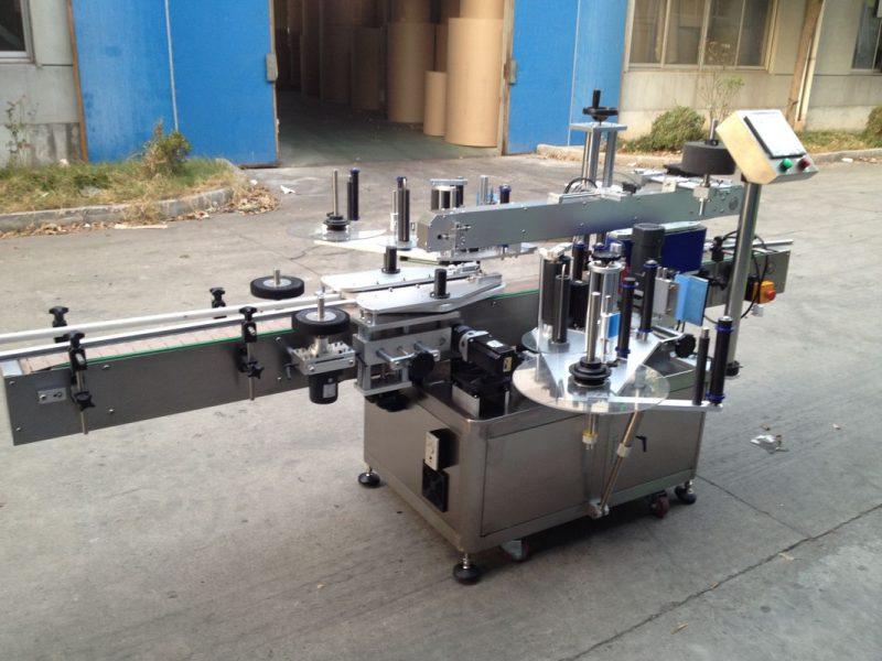 China Pressurized Bottle Automatic Sticker Applicator , 550kg Auto Labeling Machine supplier