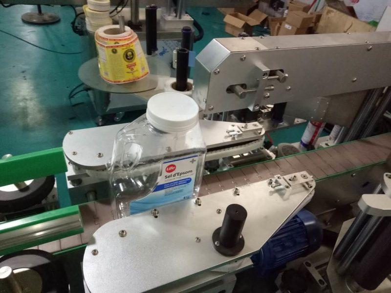 China SUS304 Kabinet Loro Sisi Mesin Label Stiker Botol Kanthi pemasok Produk Perawatan Pribadi