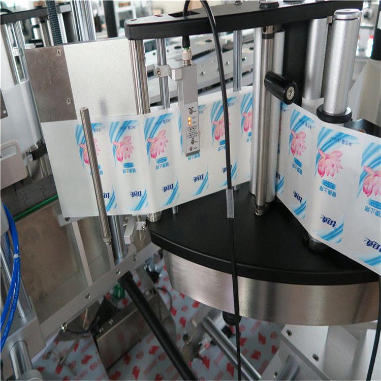 Mesin Labeling Stiker Botol Hexagon Bunder Sawijining Otomatis